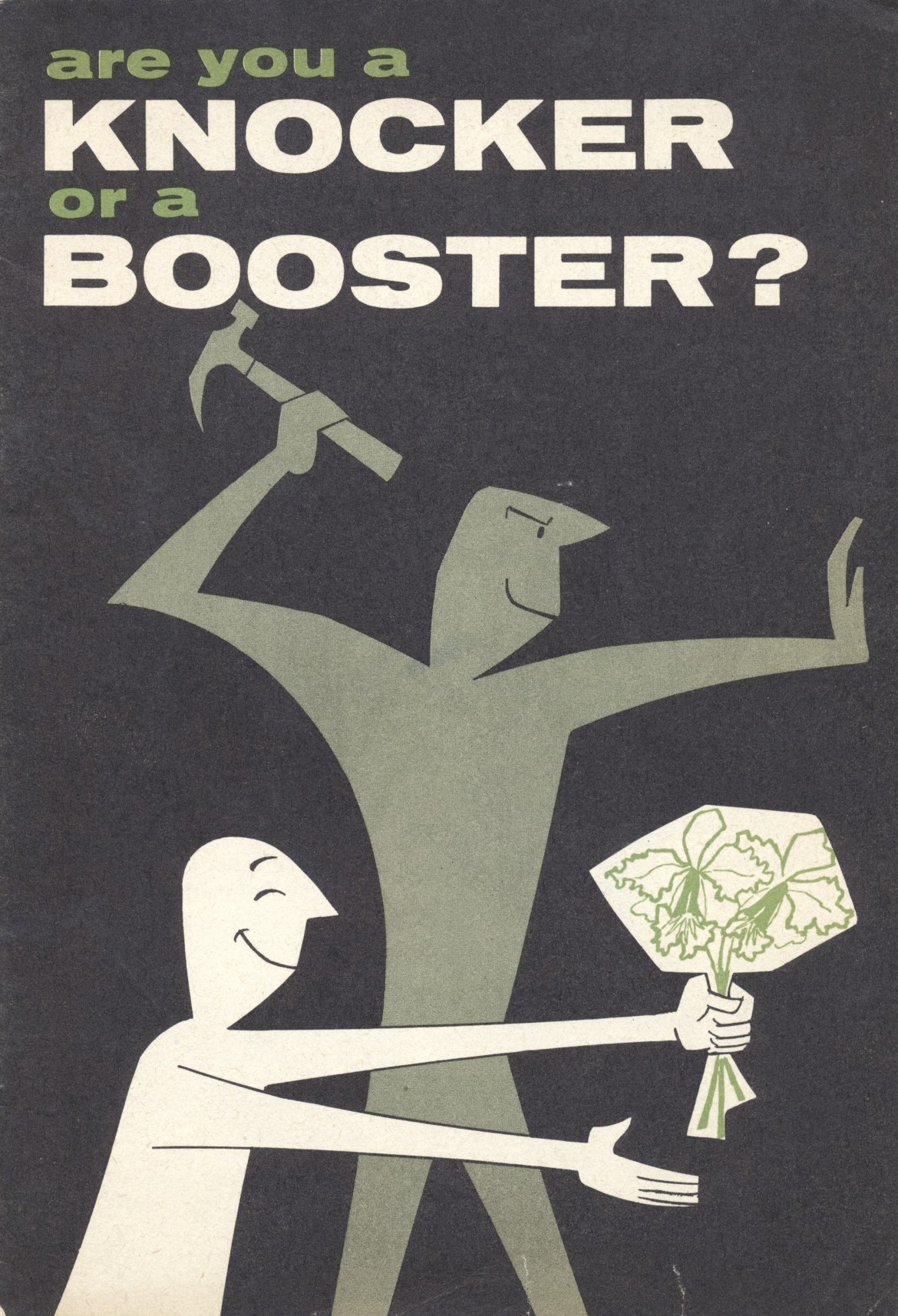 Are You A Knocker or a Booster?