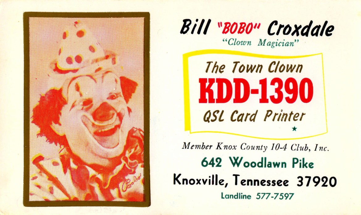Bobo The Town Clown – Knoxville, Tennessee