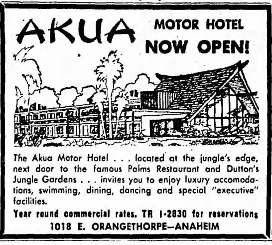 Akua Motor Hotel – Anaheim, California