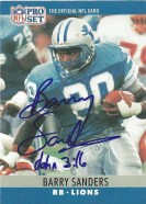 1990 Pro Set Barry Sanders