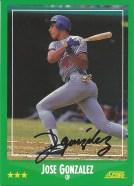 1988 Score Jose Gonzalez
