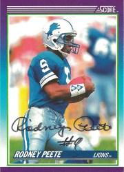 1990 Score Rodney Peete