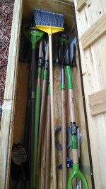 Long handled tools.