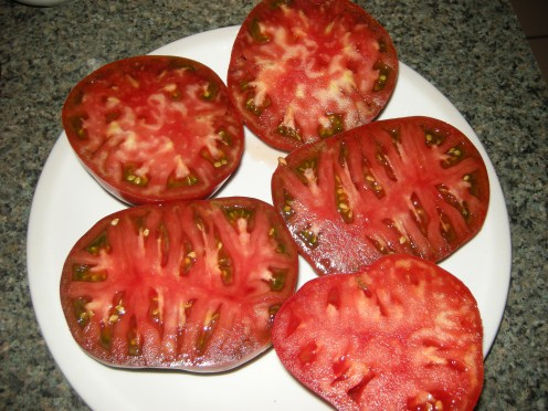 'Brandywine OTV' improved heirloom tomato.