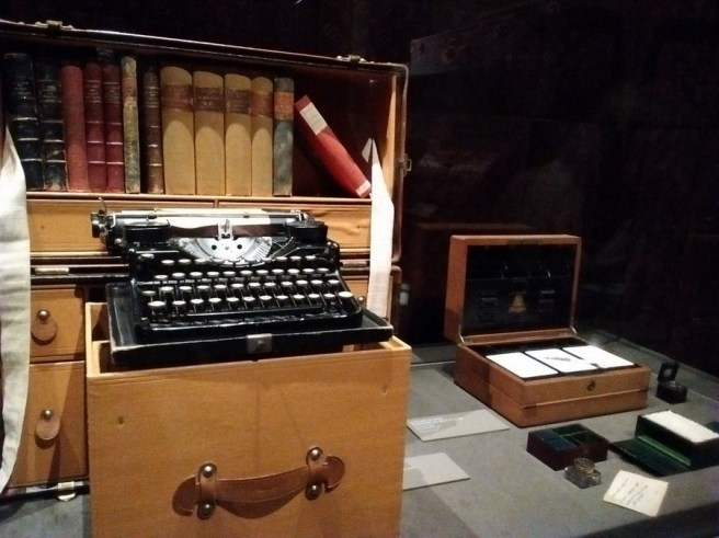 Louis Vuitton writers trunks circa 1930 at at Grand Palais in Paris France