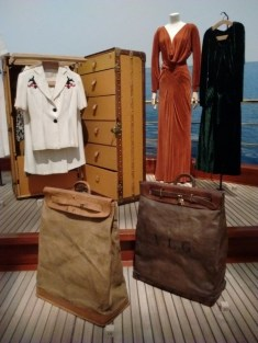 Louis Vuitton yachting steamer bags circa 1920 at Grand Palais in Paris France