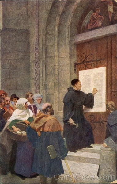 Hugo Vogel Luthers Thesenanschlag Religious