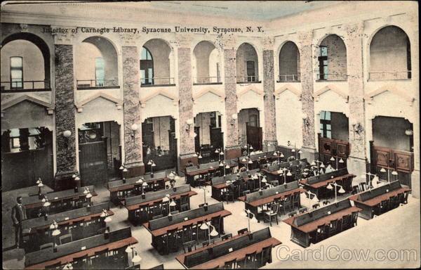 Interior Of Carnegie Library Syracuse University