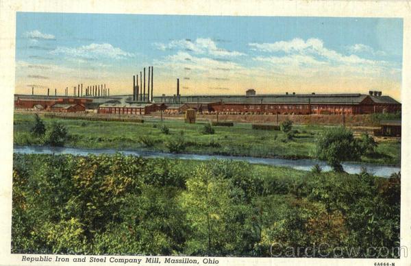 Republic Iron And Steel Company Mill Massillon OH