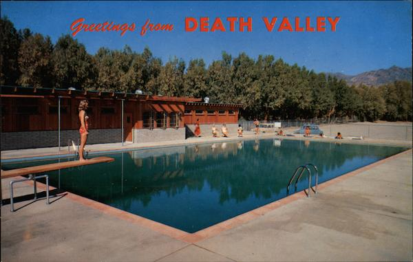 Swimming Pool Furnace Creek Ranch Death Valley CA