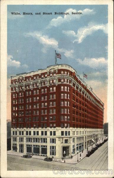 White Henry And Stuart Buildings Seattle WA