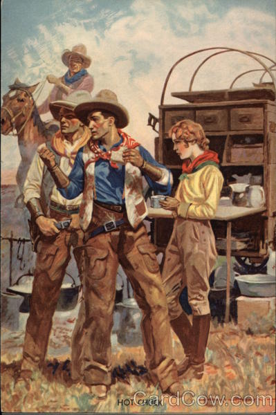 Hot Chuckwagon Lunch Cowboy Western