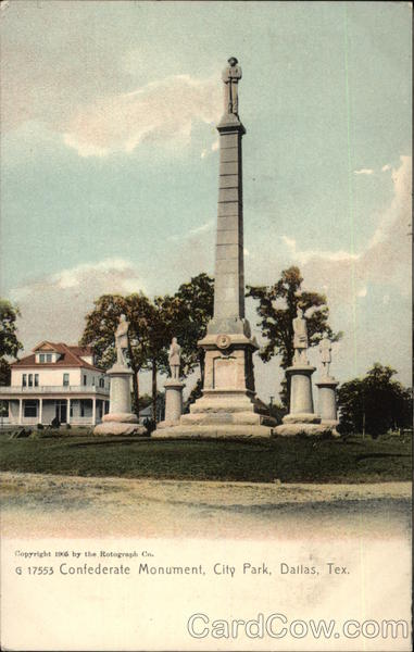 Confederate Monument City Park Dallas TX