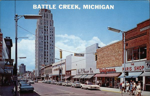 Street View Of The Largest City In Calhoun County Battle