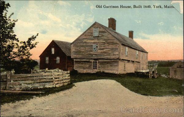 Old Garrison House Built 1640 York ME