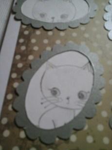 kitten three for framed cat card