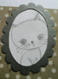 kitten two for framed cat card