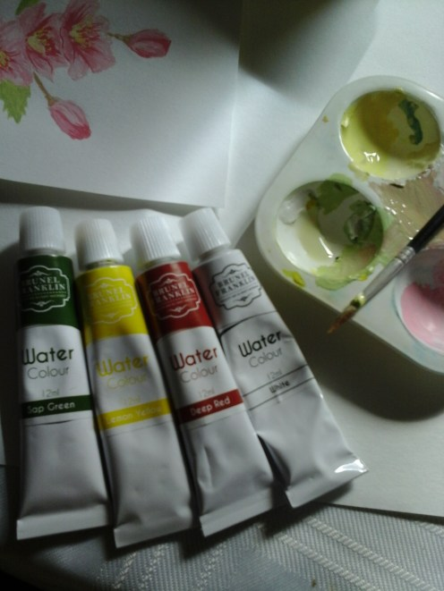 paints used for cherry blossom