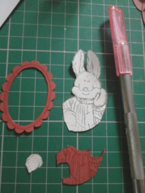 pieces to make up the red rabbit