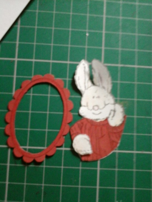 red rabbit and frame