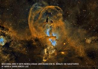 ngc3584-3582- y 3576 nebula