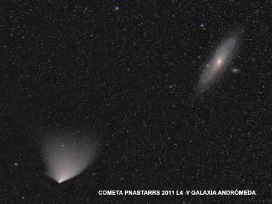 panstarrsm31 Cometa y Andromeda
