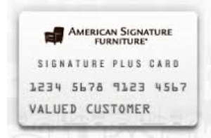 American Signature Furniture Credit Card login