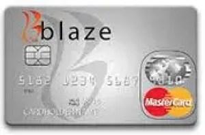 Image result for Blaze Credit Card
