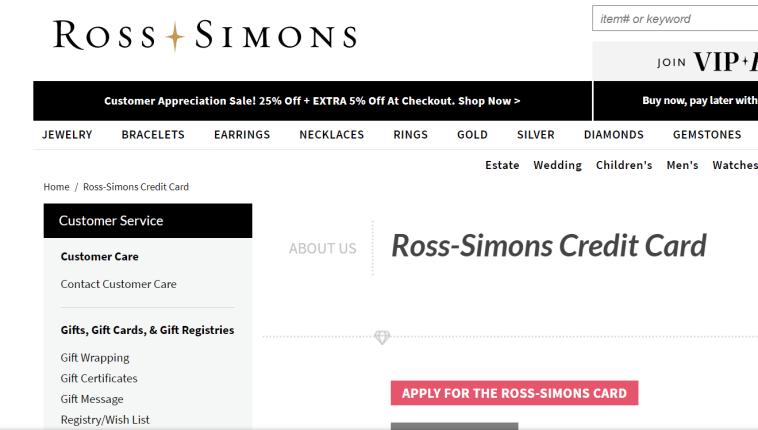 Ross Credit Card
