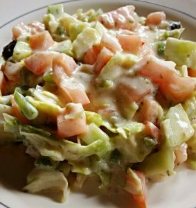 Ensalada con yogurt