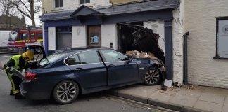 BMW разнесла пивной бар