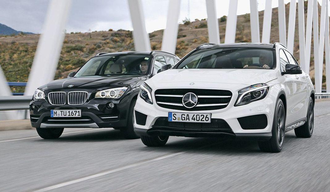 BMW X1 и Mercedes GLA
