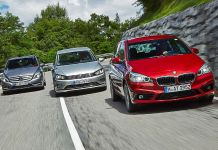 Mercedes B 200 CDI, Volkswagen Golf Sportsvan, BMW 2 Active Tourer