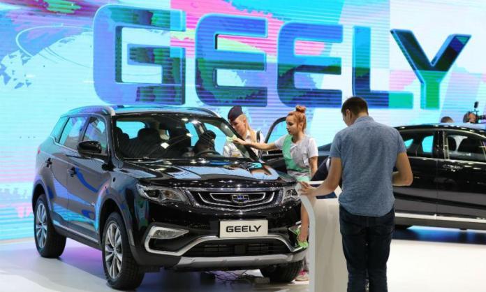 Презентация автомобиля Geely