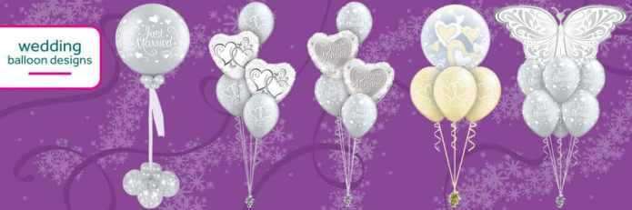 Some Of The Wedding Balloons From Cardiff Balloons
