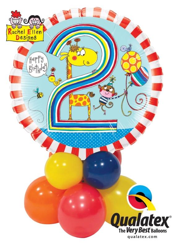 Rachel Ellen Birthday Giraffe Stripes Mini Image