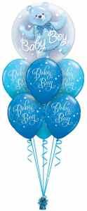 Baby Boy Bear Double Bubble Luxury