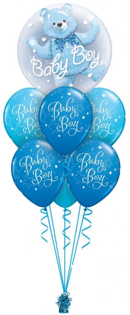 Baby Boy Bear Double Bubble Luxury Image