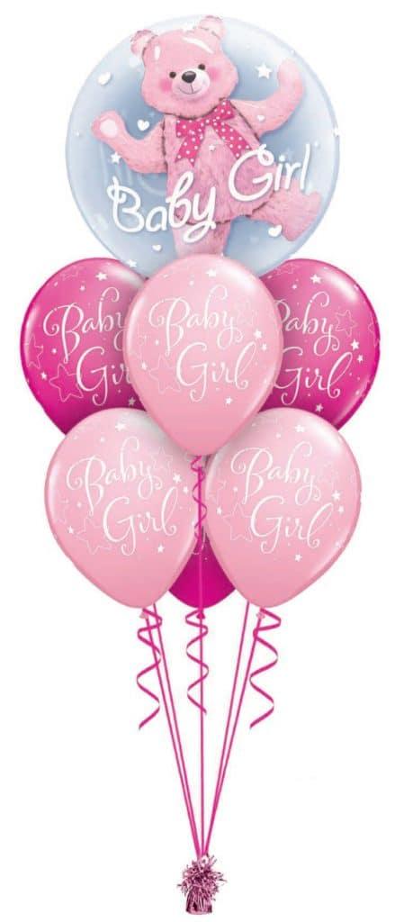 Baby Girl Bear Double Bubble Layer Image