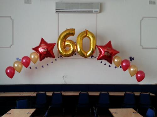 Large Foil and Latex Arch at Fairwater Sports And Social Club