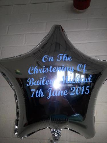 Personalised Christening Foil Balloon From Cardiff Balloons