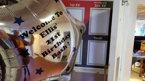 Large Personalised Foil Star Balloon. Birthday Balloons From Cardiff Balloons