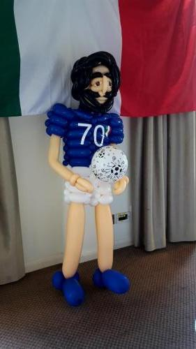 A handcrafted Football Player.