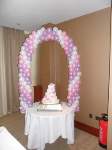 Solid cake arch. #weddingballoonscardiff