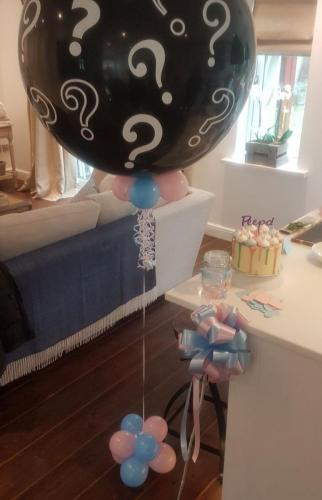Giant Gender Reveal Bursting Balloon From Cardiff Balloons