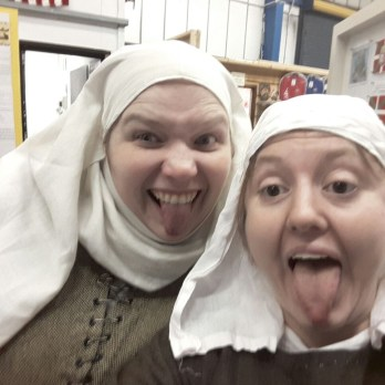 Post-show daftness: wimple selfies