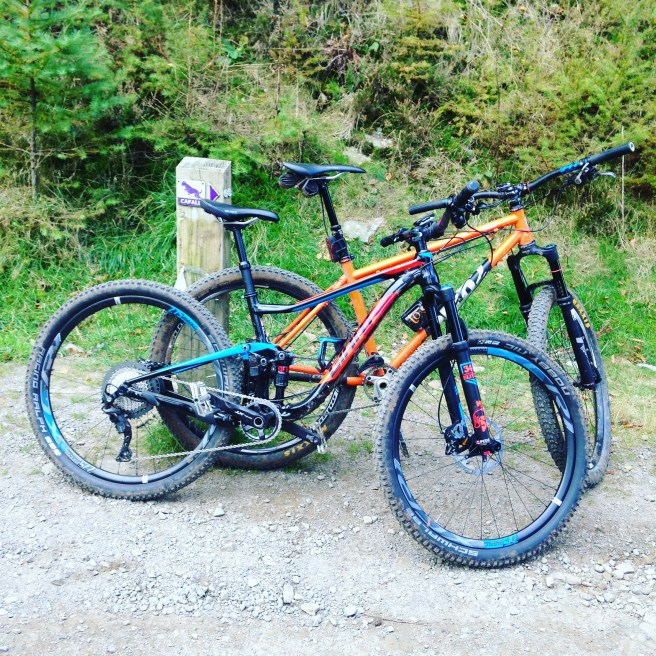 2017 Giant Anthem 1 mountain Bike Cotic soul steel hard tail  cwmcarn cafall