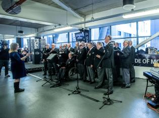 Guinness PRO12, Principality Stadium, Cardiff, Wales 30/4/2016 Cardiff Blues vs Ospreys Guinness Choir and Supporters in Fanzone Mandatory Credit ©INPHO/James Crombie