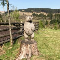 Sculpture trails and a playground with a view at Garwnant Visitor Centre, near Merthyr