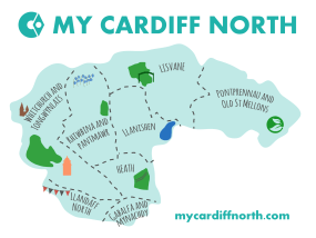 Cardiff North map